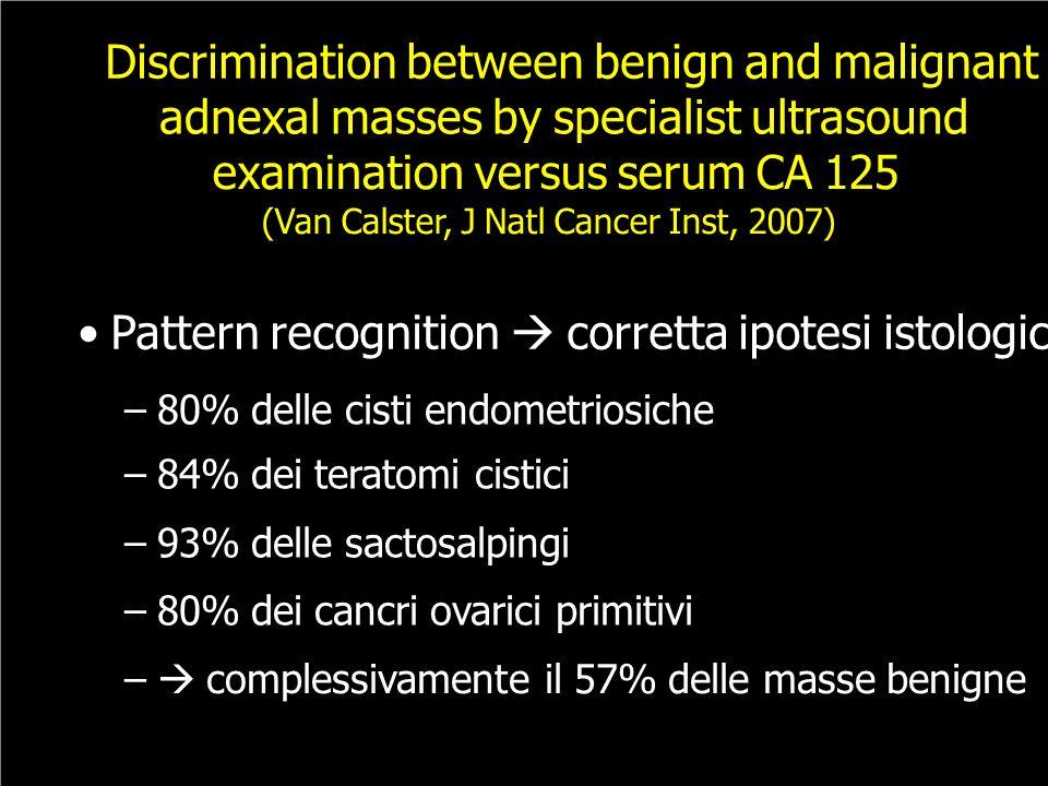 Discrimination between benign and malignant