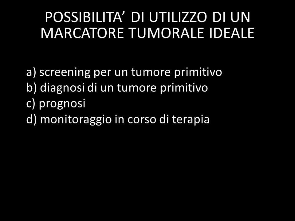 POSSIBILITA' DI UTILIZZO DI UN MARCATORE TUMORALE IDEALE