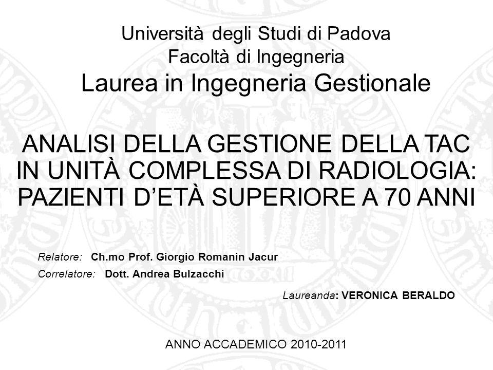 Università degli Studi di Padova Facoltà di Ingegneria Laurea in Ingegneria Gestionale