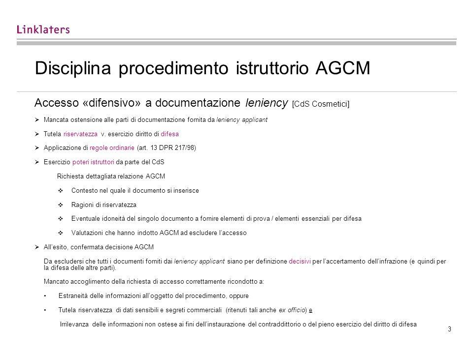 Disciplina procedimento istruttorio AGCM