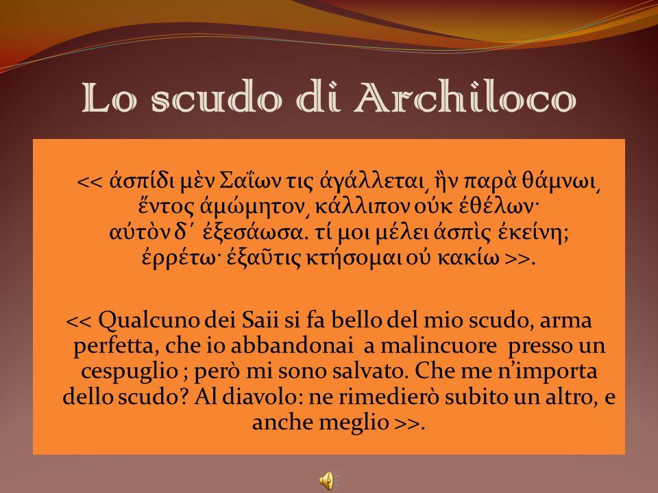 Lo scudo di Archiloco
