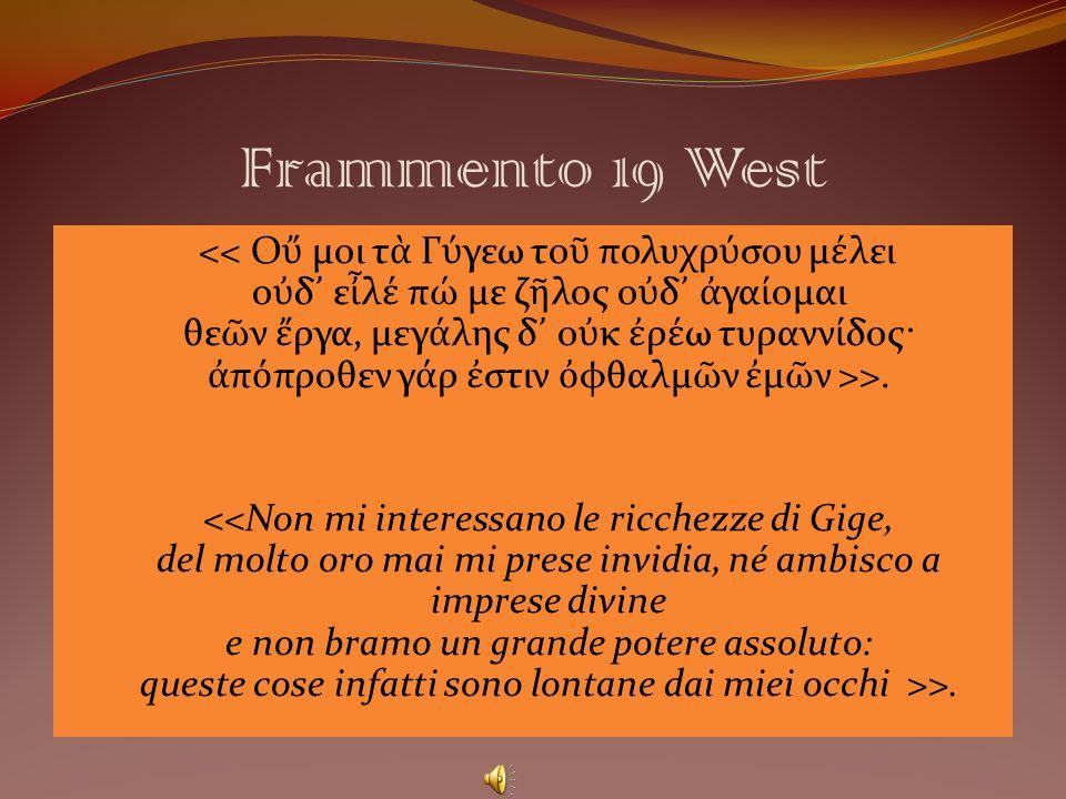 Frammento 19 West