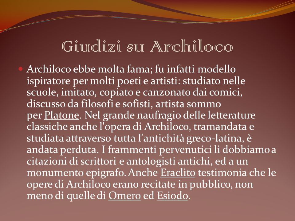 Giudizi su Archiloco