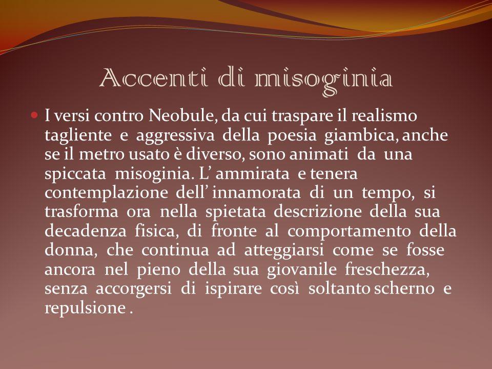 Accenti di misoginia