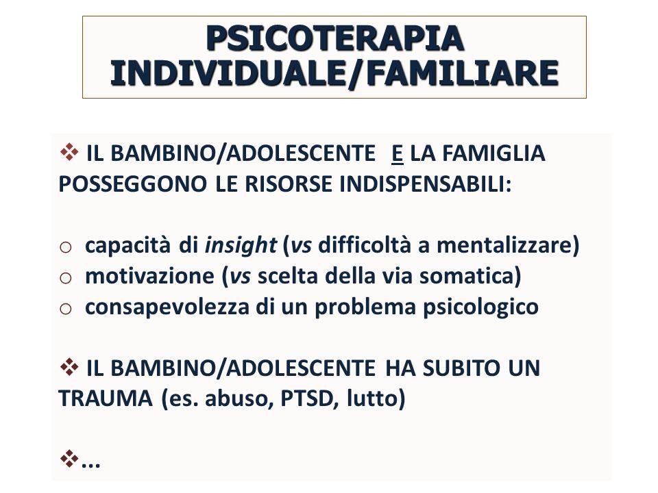 PSICOTERAPIA INDIVIDUALE/FAMILIARE