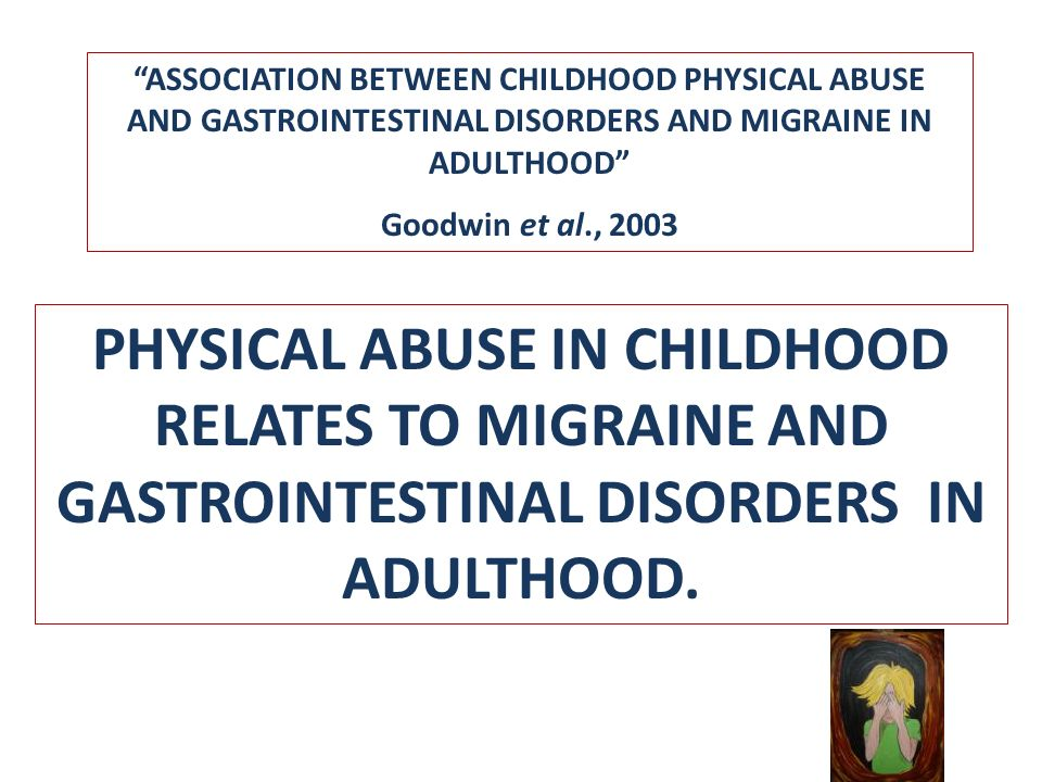 ASSOCIATION BETWEEN CHILDHOOD PHYSICAL ABUSE AND GASTROINTESTINAL DISORDERS AND MIGRAINE IN ADULTHOOD