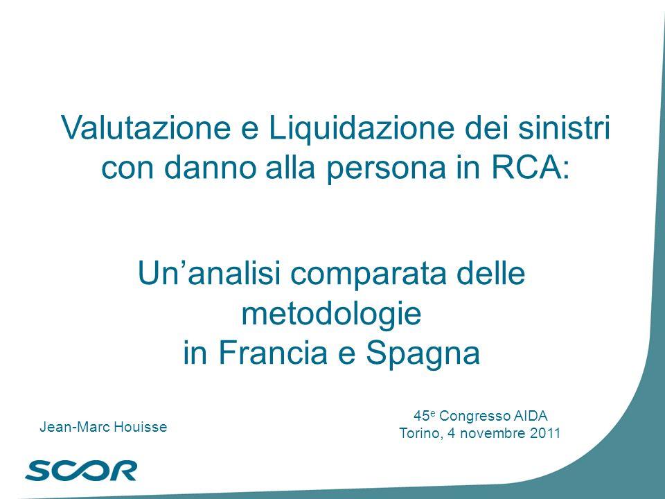 Valutazione e Liquidazione dei sinistri con danno alla persona in RCA: