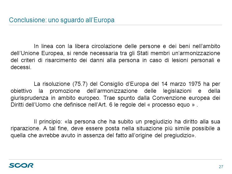 Conclusione: uno sguardo all'Europa