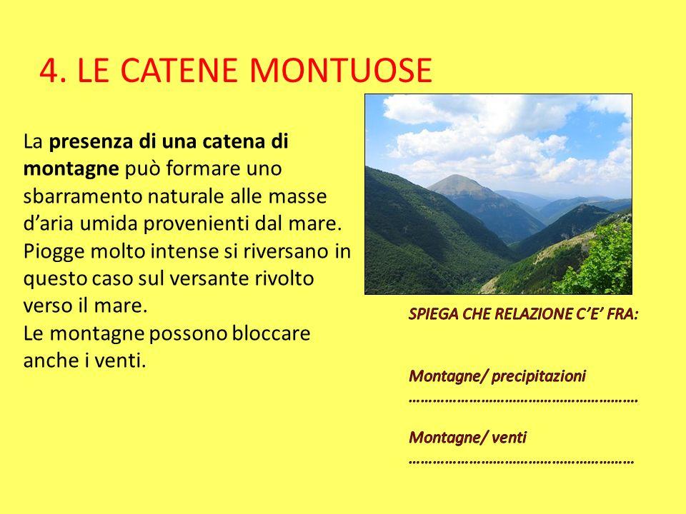 4. LE CATENE MONTUOSE