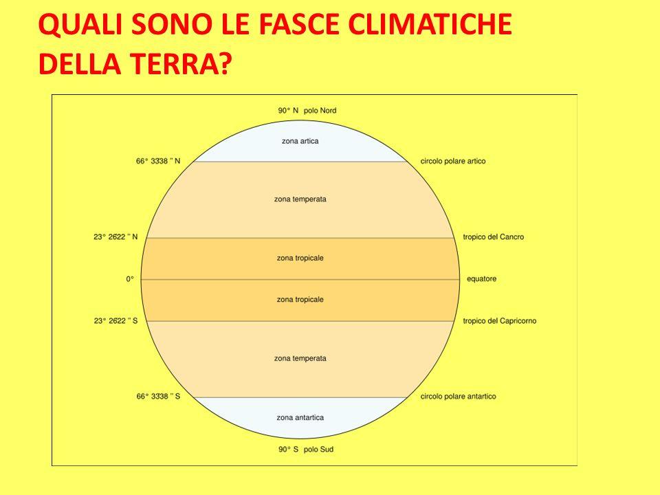 QUALI SONO LE FASCE CLIMATICHE DELLA TERRA