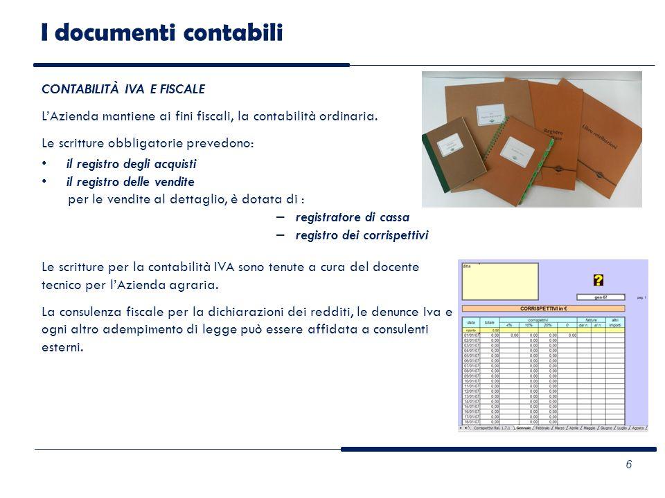 I documenti contabili CONTABILITÀ IVA E FISCALE