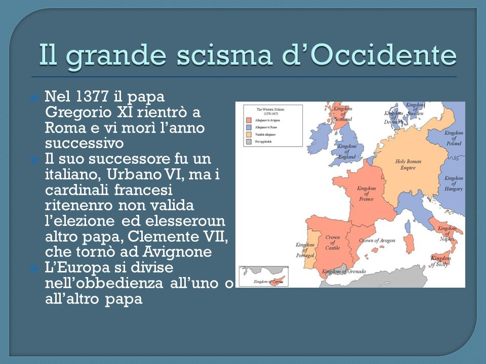 Il grande scisma d'Occidente