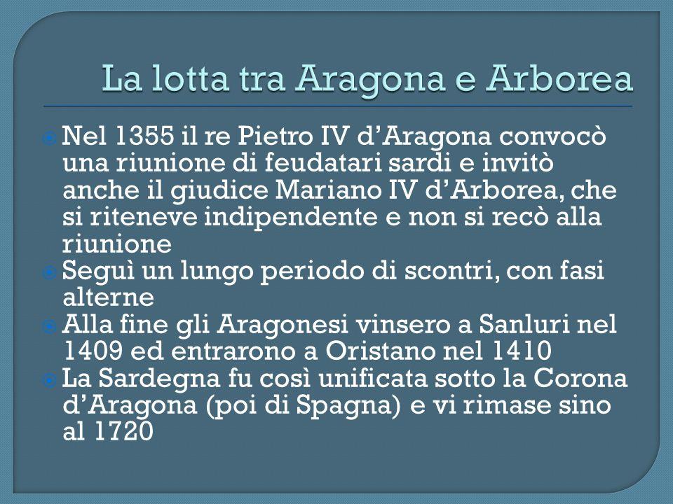 La lotta tra Aragona e Arborea
