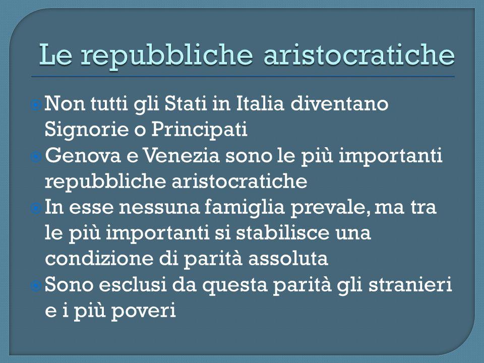 Le repubbliche aristocratiche