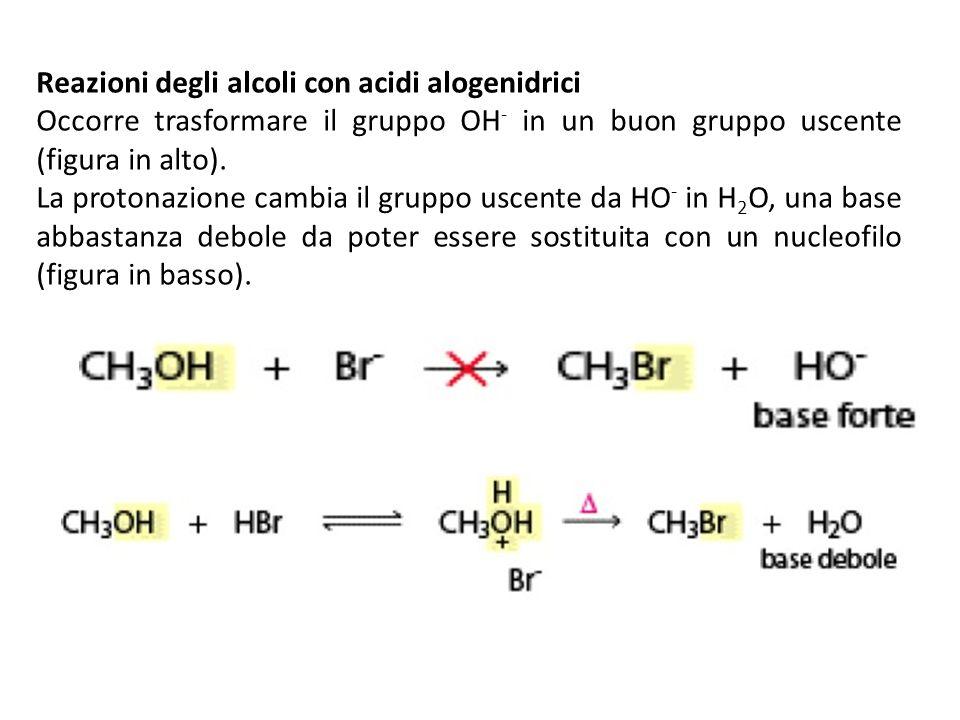 Reazioni degli alcoli con acidi alogenidrici