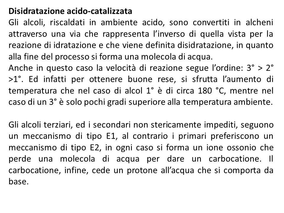 Disidratazione acido-catalizzata