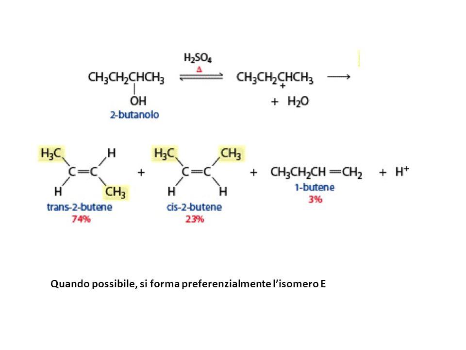 Quando possibile, si forma preferenzialmente l'isomero E