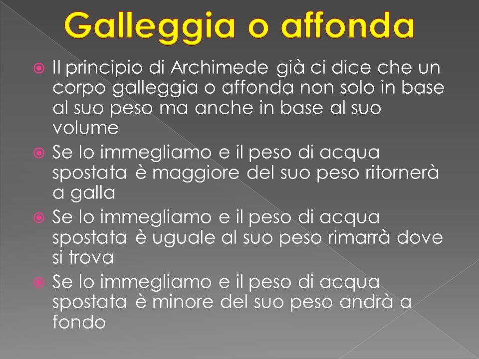 Galleggia o affonda
