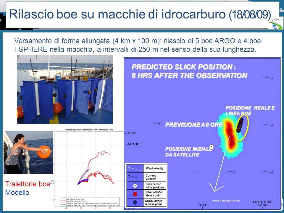 Rilascio boe su macchie di idrocarburo (18/08/09)