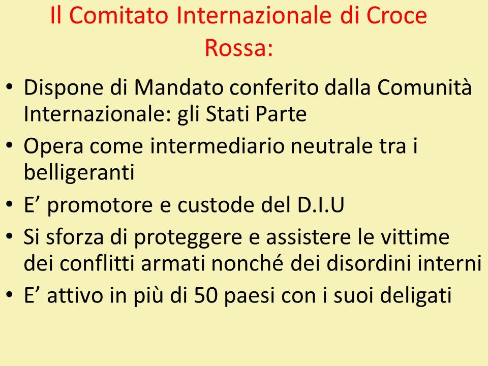 Il Comitato Internazionale di Croce Rossa: