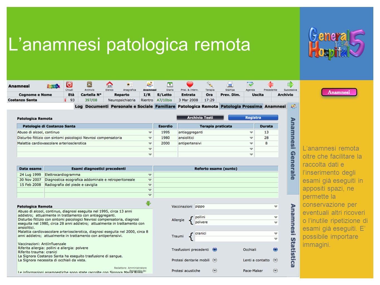 L'anamnesi patologica remota