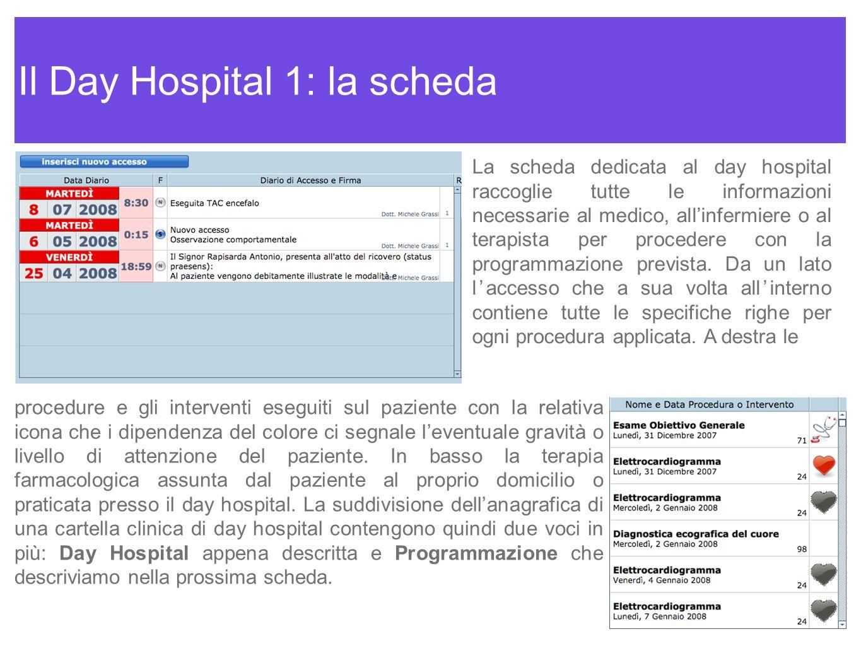 Il Day Hospital 1: la scheda