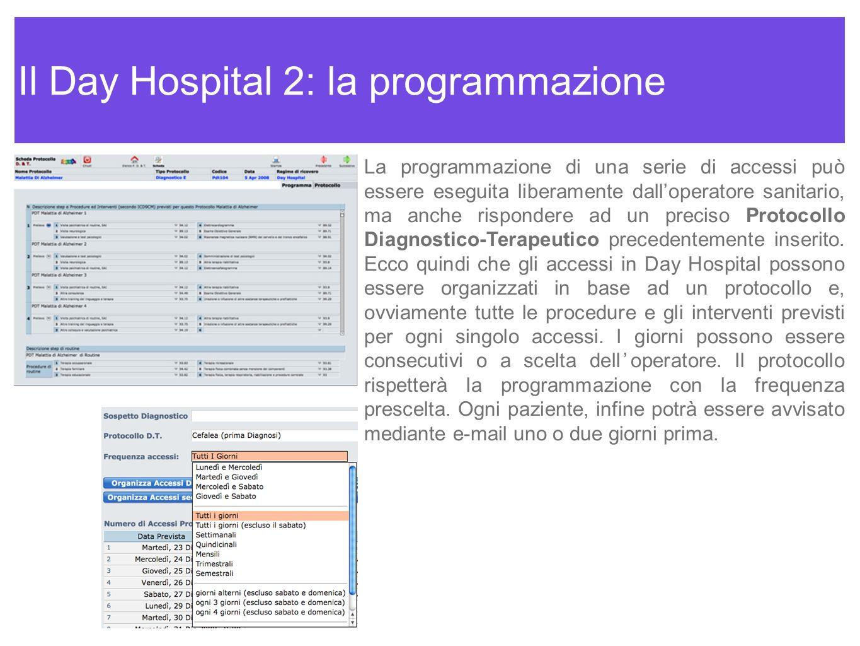 Il Day Hospital 2: la programmazione
