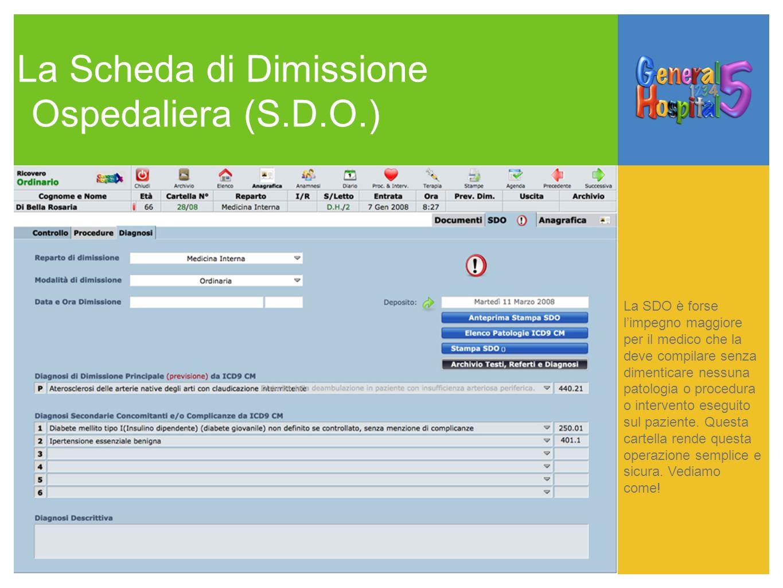 La Scheda di Dimissione Ospedaliera (S.D.O.)