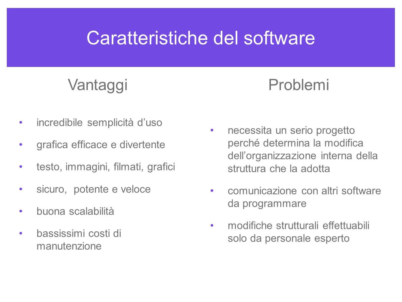 Caratteristiche del software