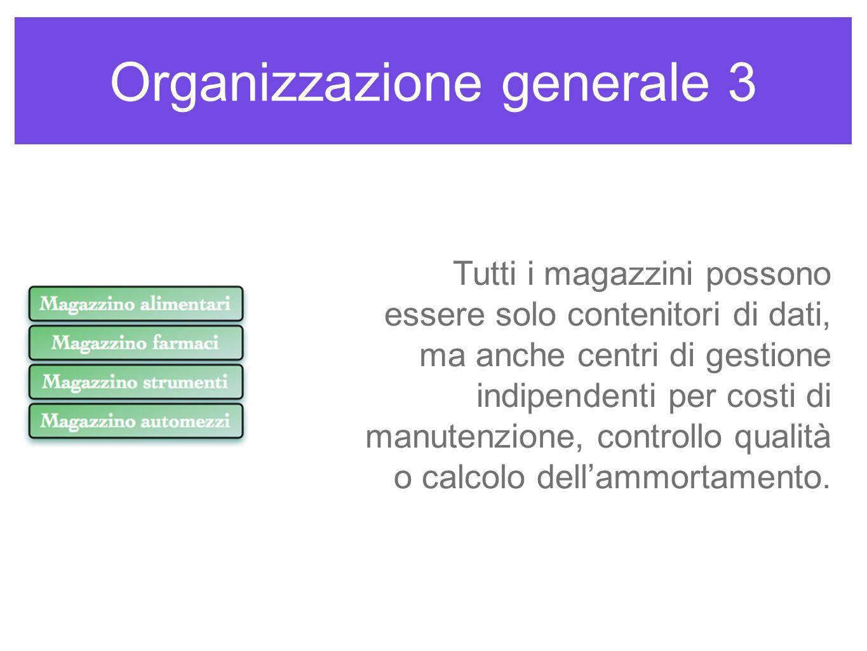 Organizzazione generale 3