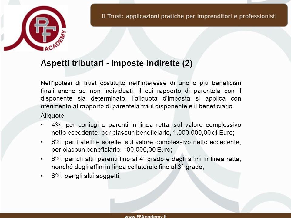 Aspetti tributari - imposte indirette (2)
