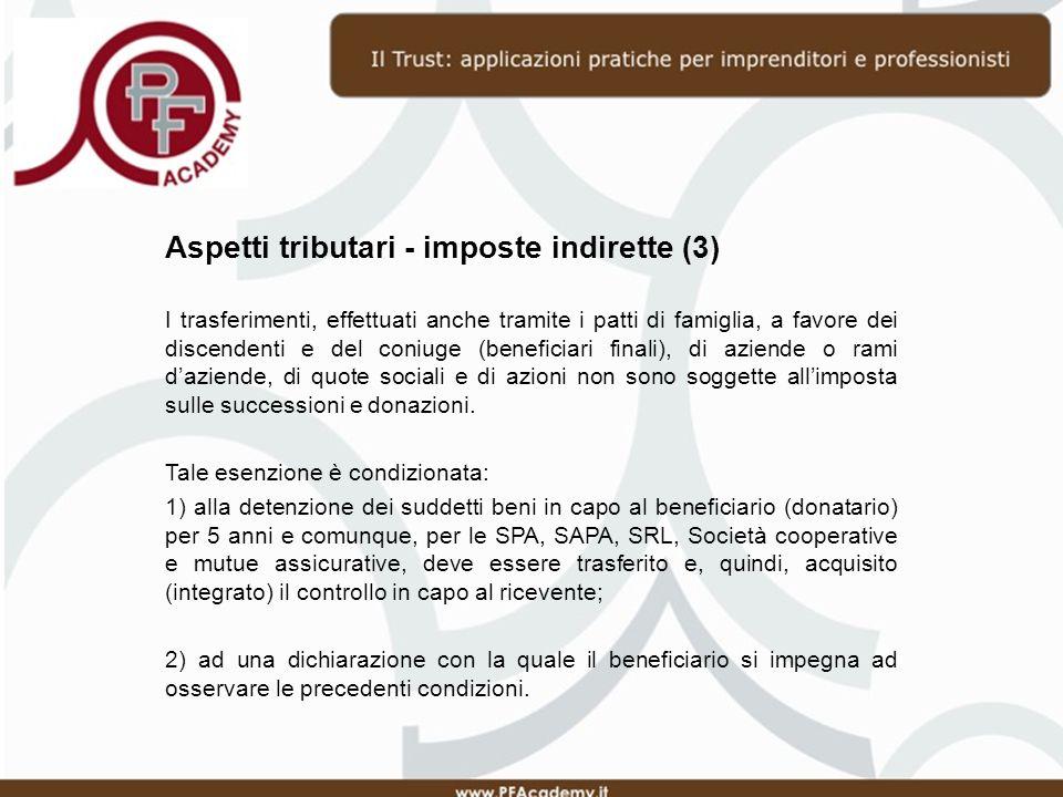 Aspetti tributari - imposte indirette (3)