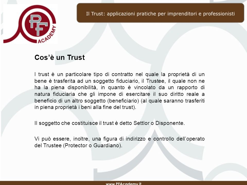 Cos'è un Trust