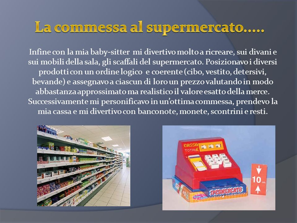 La commessa al supermercato.....