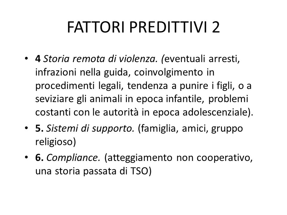 FATTORI PREDITTIVI 2