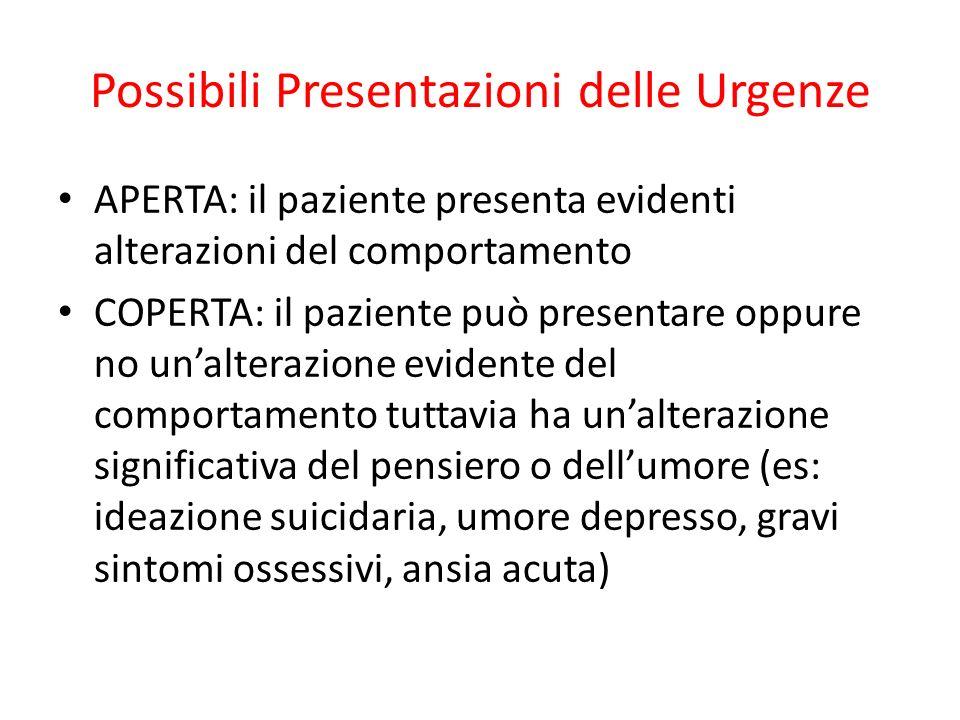 Possibili Presentazioni delle Urgenze