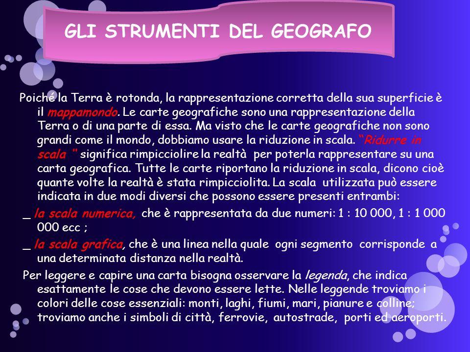 GLI STRUMENTI DEL GEOGRAFO