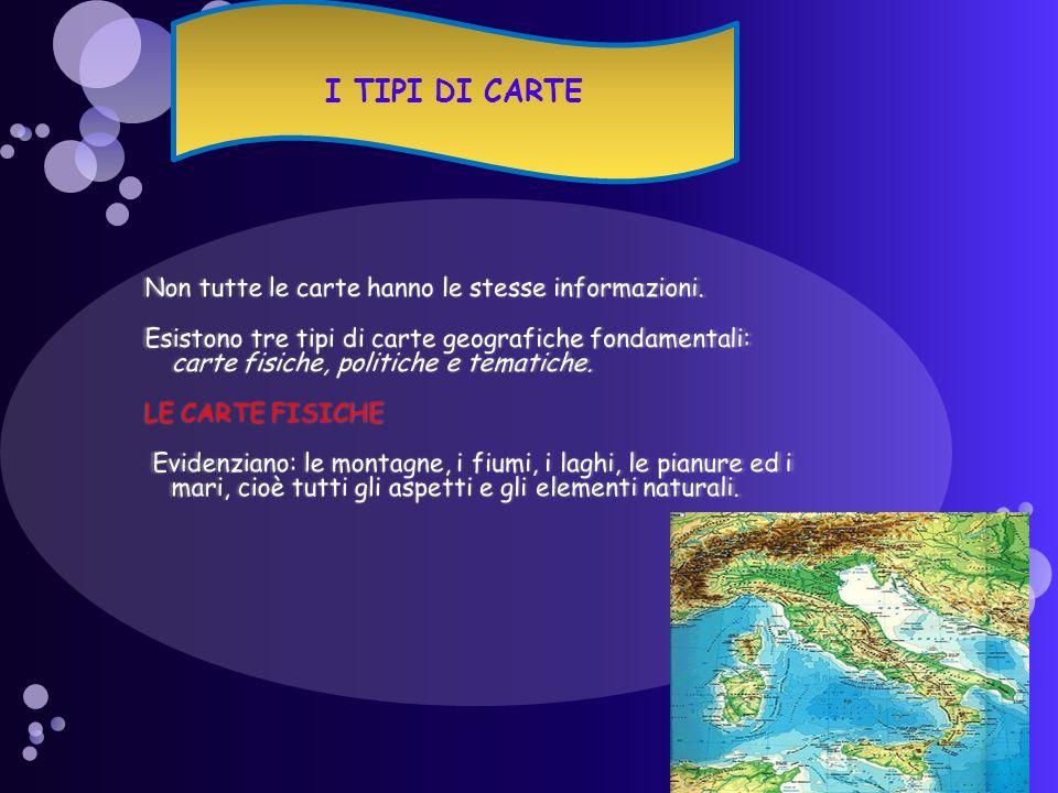 I TIPI DI CARTE