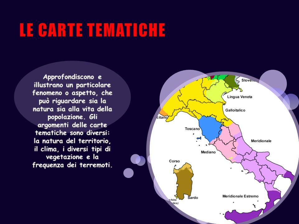 LE CARTE TEMATICHE