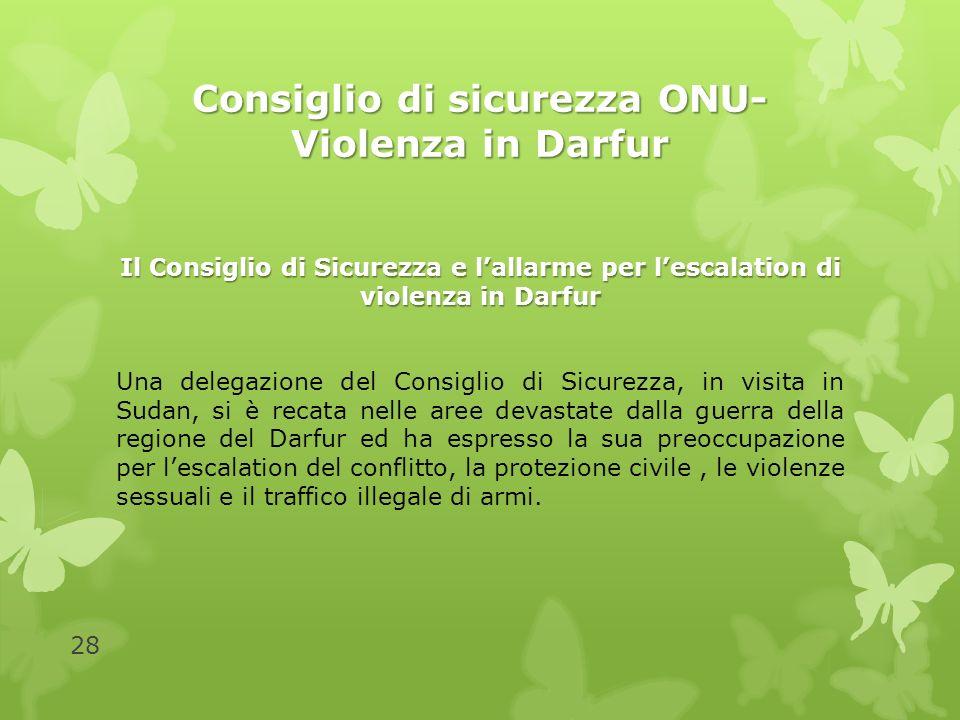 Consiglio di sicurezza ONU- Violenza in Darfur