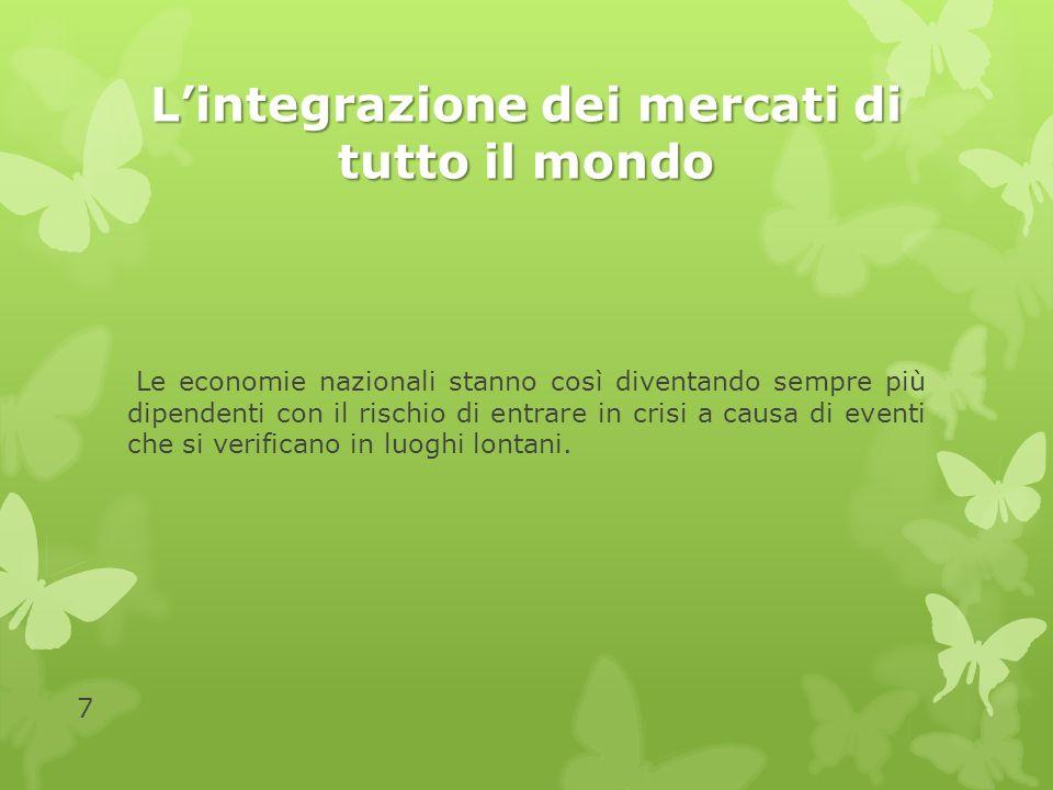 L'integrazione dei mercati di tutto il mondo