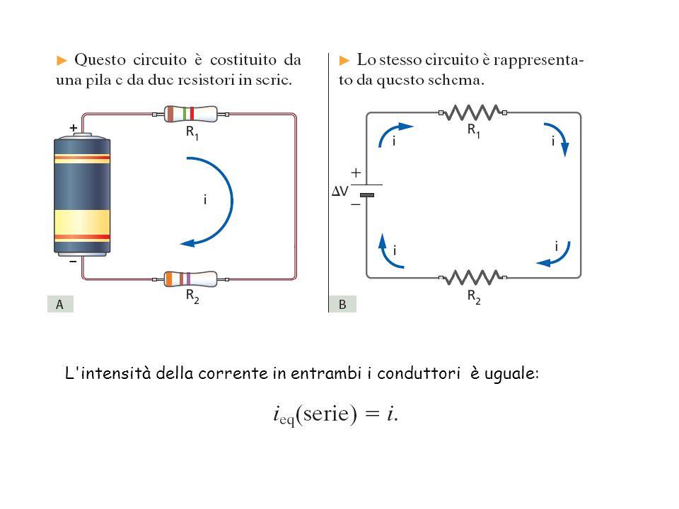 L intensità della corrente in entrambi i conduttori è uguale: