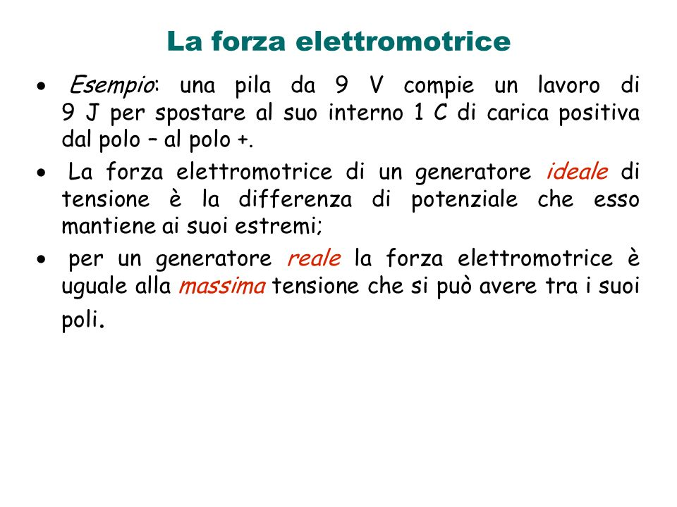 La forza elettromotrice