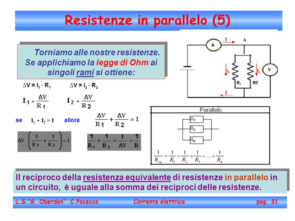 Resistenze in parallelo (5)