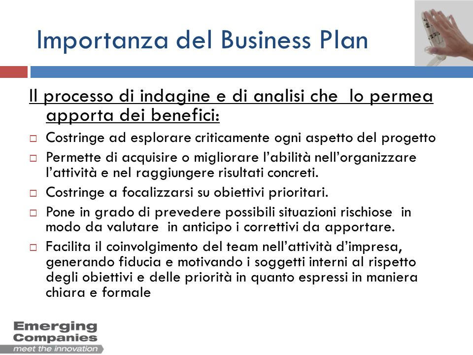 Importanza del Business Plan