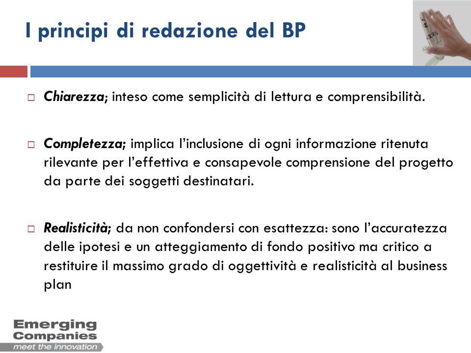I principi di redazione del BP