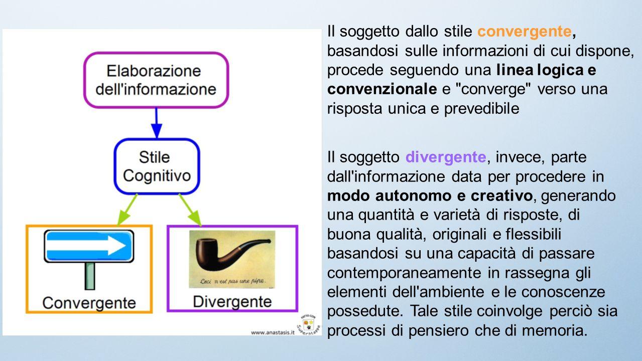 Il soggetto dallo stile convergente, basandosi sulle informazioni di cui dispone,