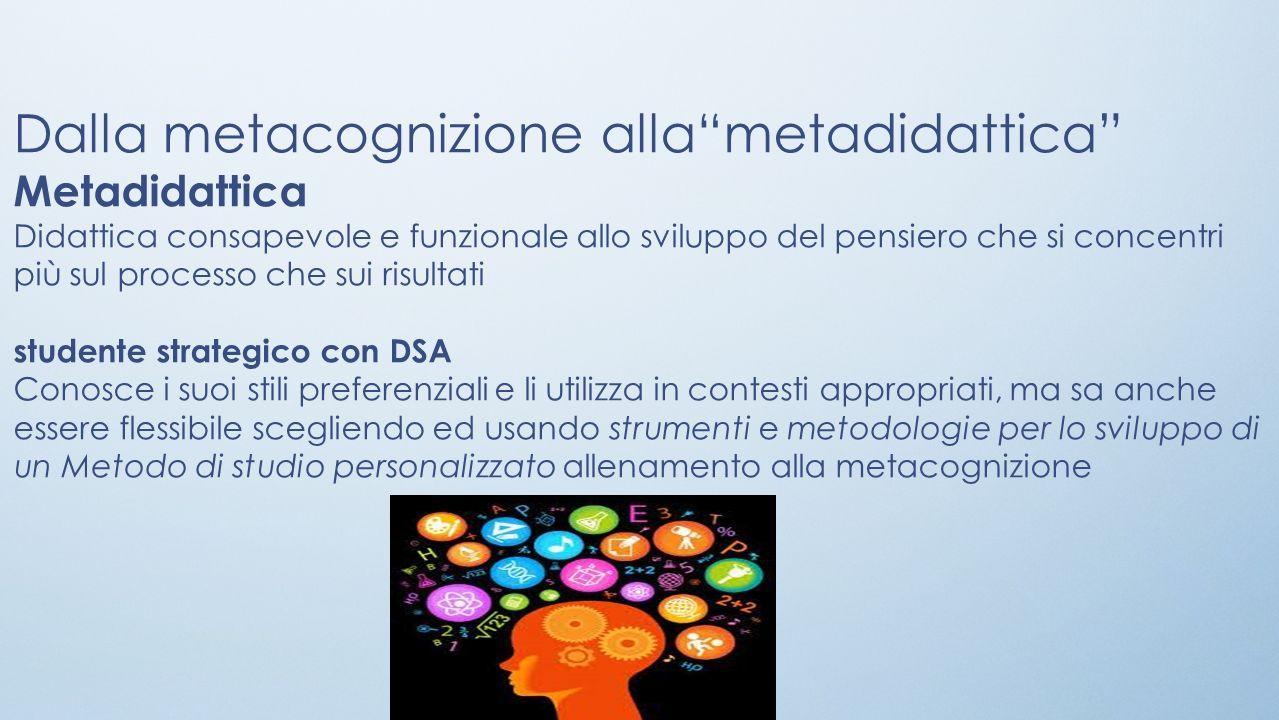 Dalla metacognizione alla metadidattica