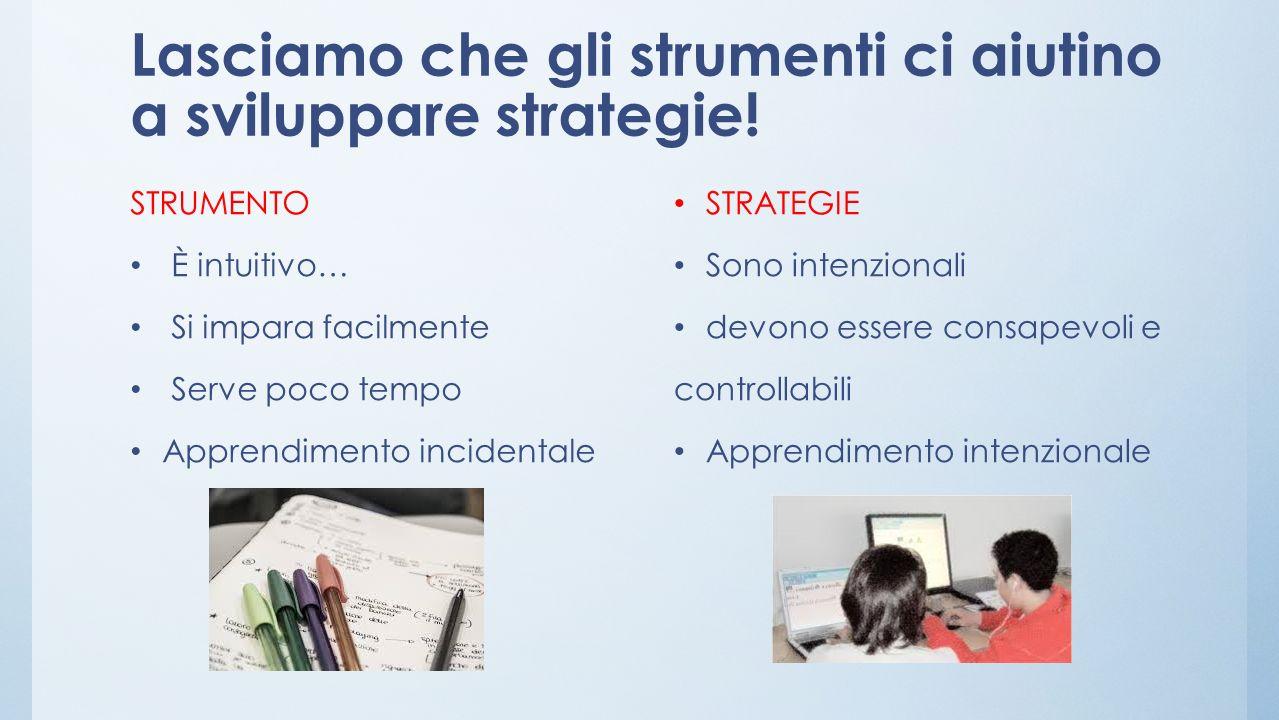 Lasciamo che gli strumenti ci aiutino a sviluppare strategie!