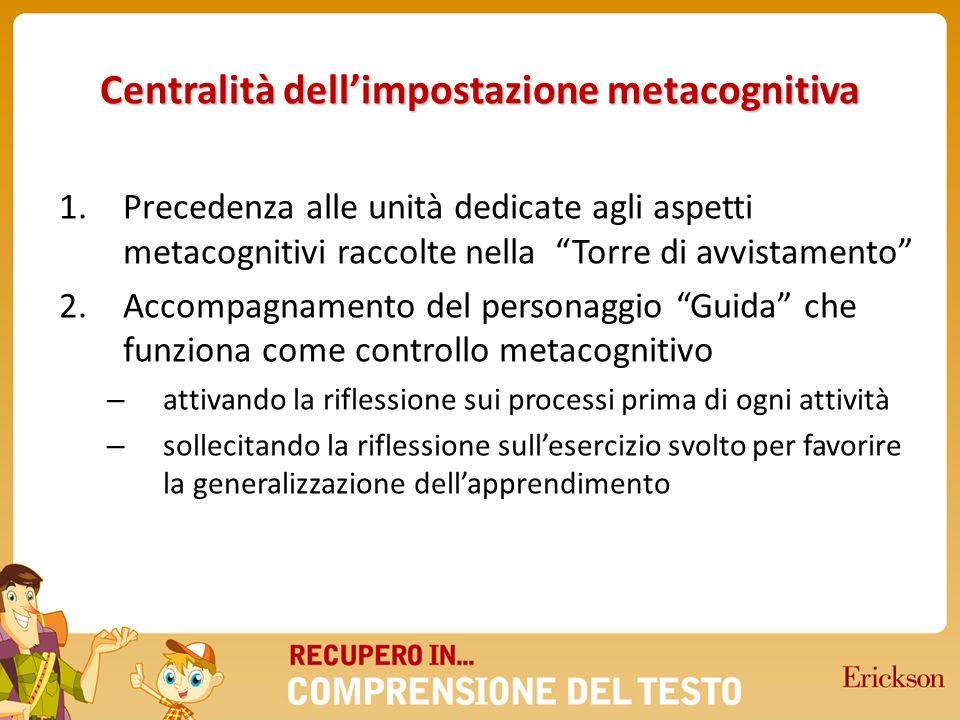 Centralità dell'impostazione metacognitiva